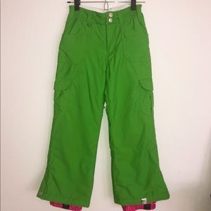 Roxy Green Snow Pants Size Small
